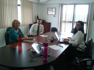 Principals Paola Pereira and Dan Kerr are planning the Faculty Workshops with Visiting Literacy Consultant Carrie Ekey